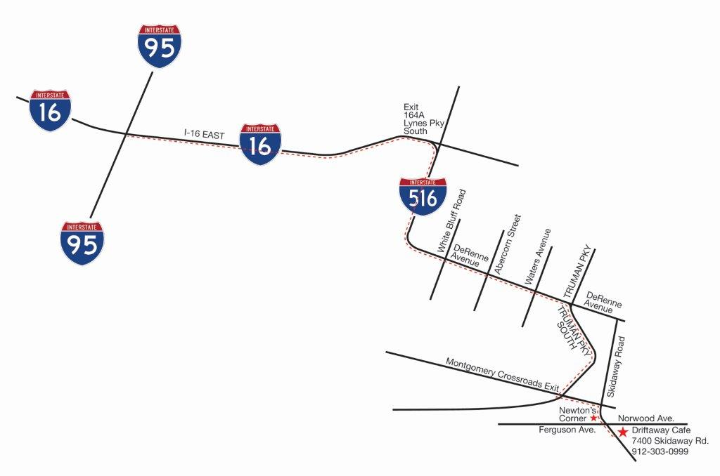 I-95 to Driftaway Map